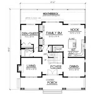 Floor Plan Scale 1 100 Craftsman Style House Plan 5 Beds 3 Baths 2615 Sq Ft