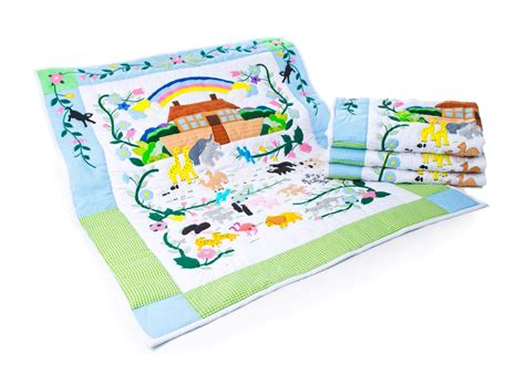 Ss Noah Crib Bedding Noah S Ark Handmade Baby Quilt Plaid Tidings