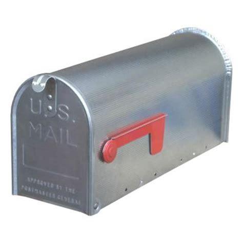 gibraltar mailboxes premium aluminum post mount rural