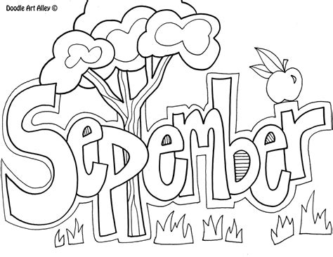 september coloring pages to and print for free