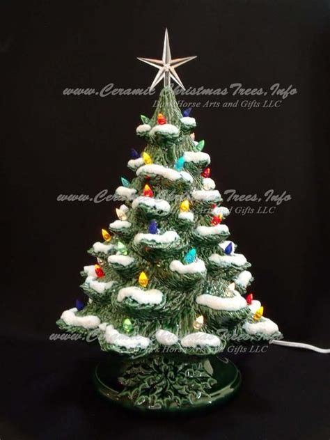 music box for christmas tree lights winter ceramic tree with by darkhorsestore