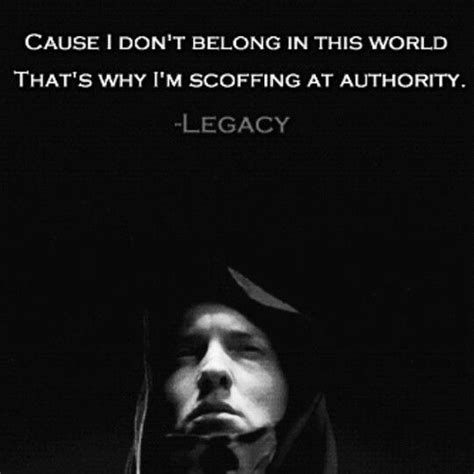 lyrics cause i about my quot cause i don t belong in this world quot eminem legacy