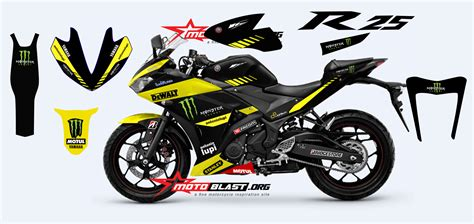 Stiker Striping R Spesial Edition special modif striping decal fullbody yamaha r25 livery