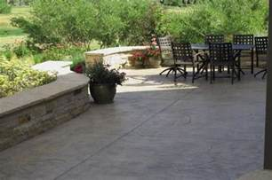 Stamped Concrete Backyard Ideas Concrete Patio Design Ideas And Cost Landscaping Network