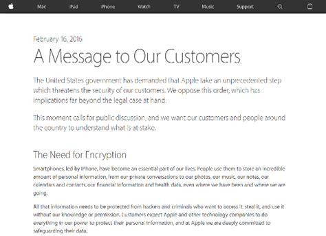 Apple Customer Letter Fbi 全文訳 アップル fbiの捜査協力要求を拒絶 クックceoがメッセージを公開 ライブドアニュース