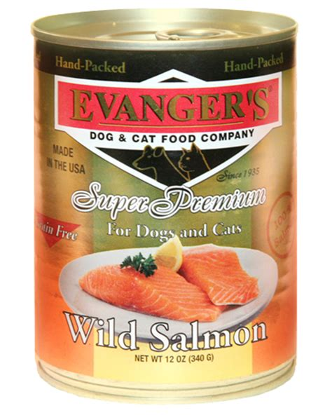 can dogs salmon evangers salmon canned cat food 12 12oz whitedogbone