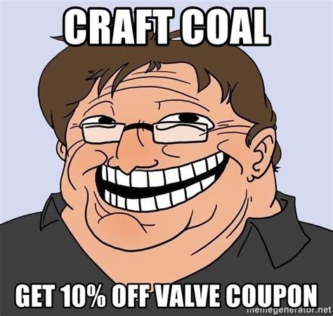 Trollface Meme Generator - craft coal get 10 off valve coupon gabe newell trollface meme generator
