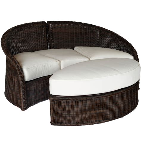 outdoor furniture daybeds sedona wicker daybed by summer classics outdoor furniture family leisure
