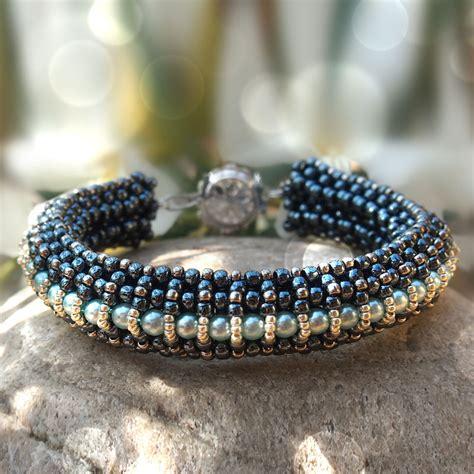 beaded cuff bracelet tutorial beading tutorials by di 225 na balogh
