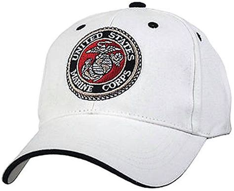 u s marine corps usmc insignia hat cap white marines us