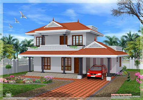 2001 sq.feet 3 bedroom sloping roof home design   home