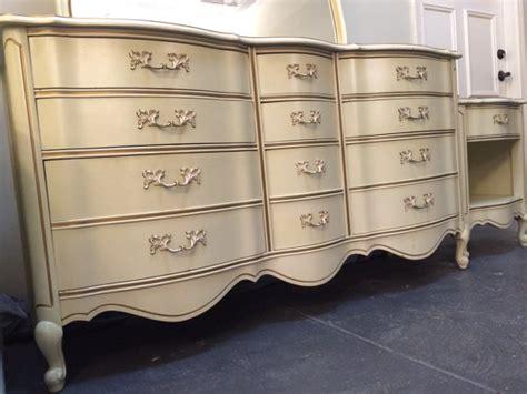 Provincial Nightstand Dresser Set In Driftwood Antique Walnut General Finishes Bedroom Set Dresser Provincial Vintage Nightstands And