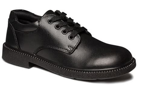 clarks reward black leather school shoes brand