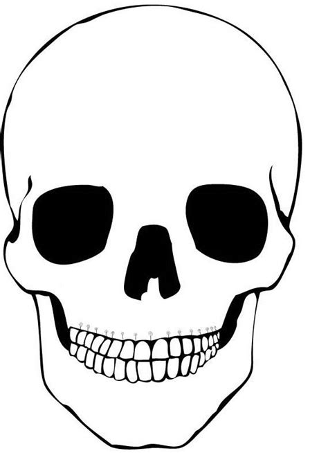 printable skull template day of the dead coloring and craft activities family