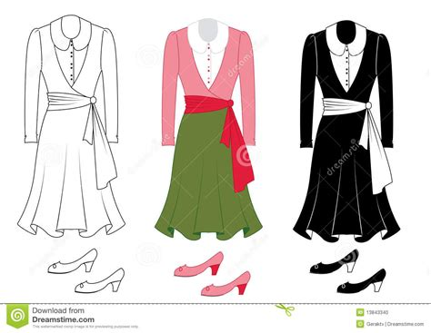 fashion clothes and shoes stock photo image 13843340