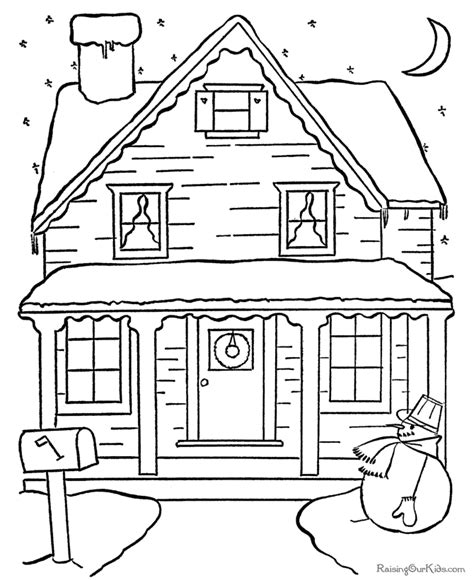 christmas scene coloring pictures