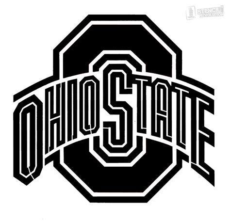 Ohio State Block O Outline by Best Photos Of Ohio State Template Ohio State Outline Clip Ohio State Block O Template