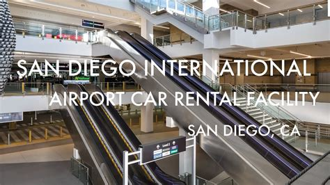 san diego airport car rental center stainless railing