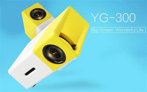 Proyektor Mini Lg Terbaru mini portable led projector hd with tf hdmi av usb port yg 300 white with yellow side