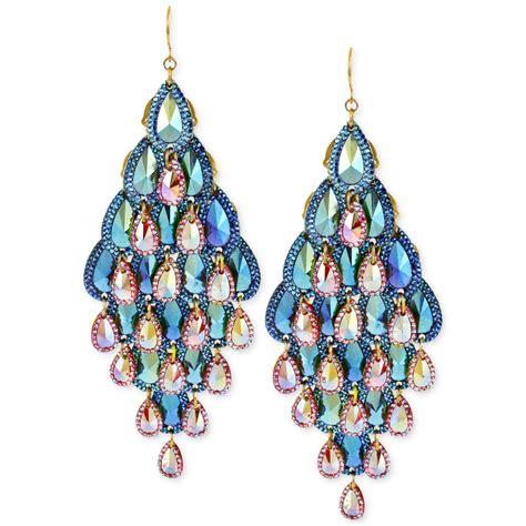 gold tone chandelier earrings steve madden goldtone ombre teardrop chandelier earrings