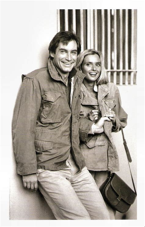 timothy dalton et sa femme timothy dalton and maryam d abo in the living daylights