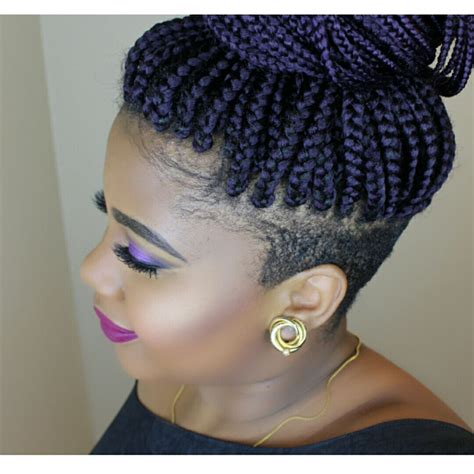 short braids on shaved head braids with shaved sides braids by juz pinterest