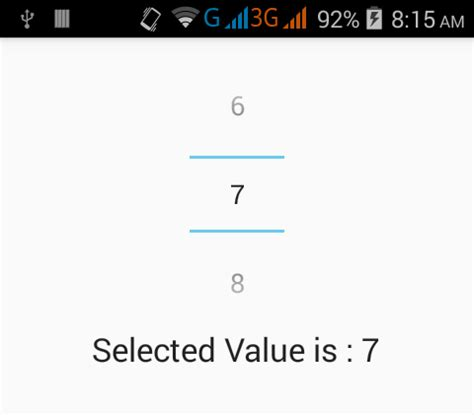 android number picker get selected value from numberpicker in android android exles
