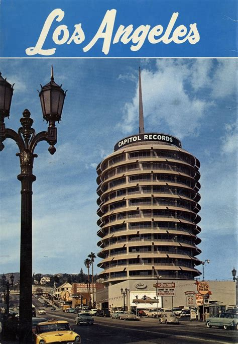 Los Angeles Records The Capitol Records Building At And Vine In Los Angeles California
