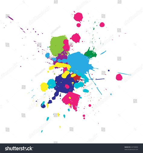 vector color paint splashes background 44728000