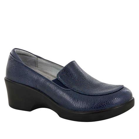 algeria shoes alegria shoes masonry blue dress loafer alegria