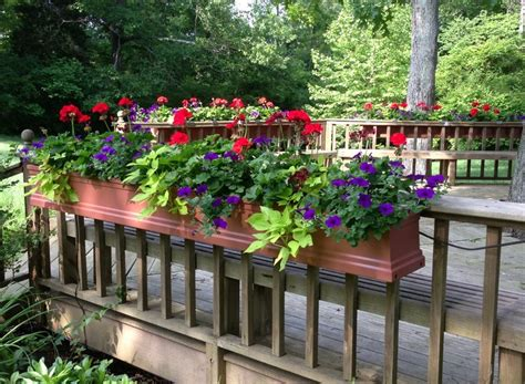 flower pots balcony railings photo balcony ideas deck planter boxes plans interior design ideas