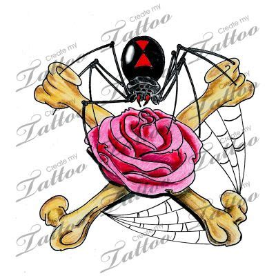 marketplace tattoo spider amp rose 13857 createmytattoo
