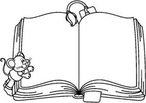open book coloring clipart