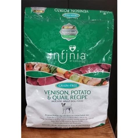 infinia food infinia 174 grain free venison potato quail food knisley s pet farm center