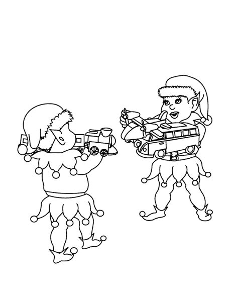 coloring pictures of santa and his elves coloring pages santa s elves