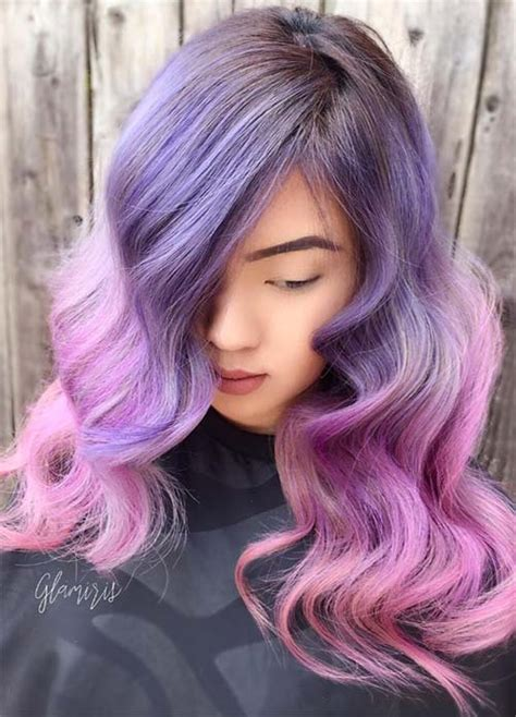 20 purple ombre hair color ideas thick hairstyles 50 lovely purple lavender hair colors purple hair