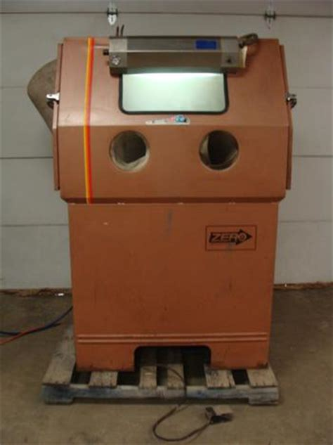 used bead blaster for sale used zero glass bead blasting cabinet model 55 6 300r df