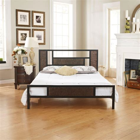 rustic twin bed frame rest rite cheryl rustic bronze twin bed frame rrccmb0153tw the home depot