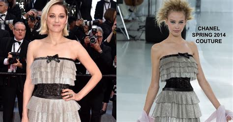Sink Or Swim Ta by Marion Cotillard In Chanel Couture At The Sink Or Swim