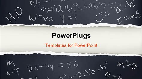 powerpoint template black paper with mathematical