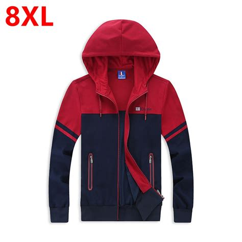Jaket Hoodie Jumbo 6xl Fit To 7xl Dongker large size hoodie all match leisure hoodie coat zippers add fertilizer increased