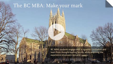 Boston Part Time Mba by Graduate Programs Carroll School Of Management Boston