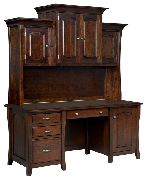 credenza desk with hutch desks page 1 amish furniture gallery in lockport il