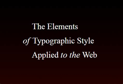 the elements of typographic the elements of typographic style applied to the evereq
