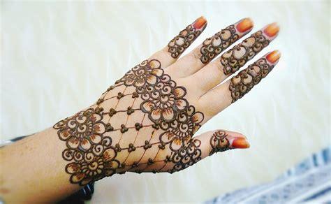 henna design for back of hand easy stylish floral and lines mehndi design henna design