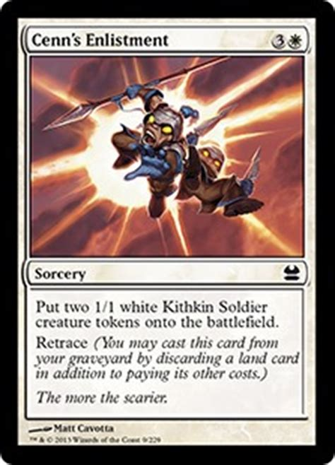 mtg cards that make tokens cenn s enlistment modern masters gatherer magic the