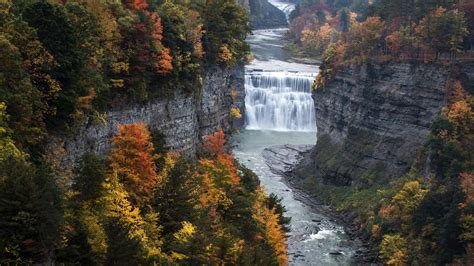 wallpaper letchworth state park genesee river middle