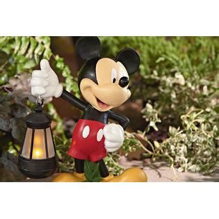 disney 17 quot mickey statue with solar lantern limited availability outdoor living outdoor