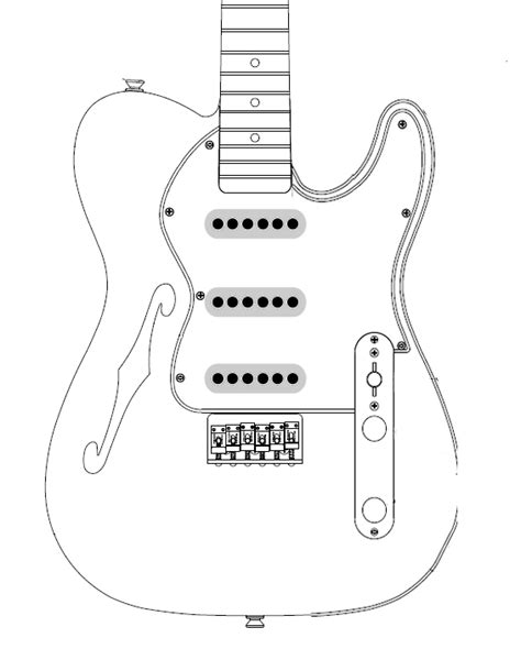 Telecaster Template For Sale telecaster guitar template images