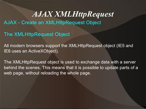 net mixer xmlhttprequest to make ajax call using javascript ajax ppt